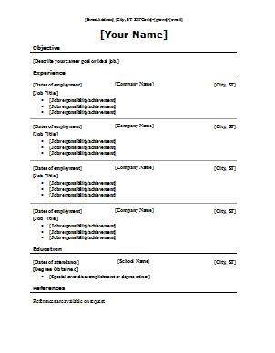 Which Resume Format is the Best Stewart Cooper Coon