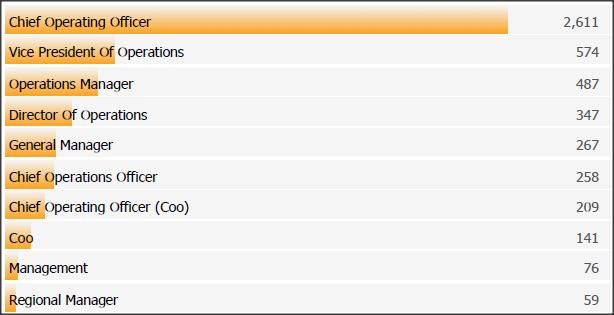 SCC Chief Operating Officer Spotlight Top Job Titles