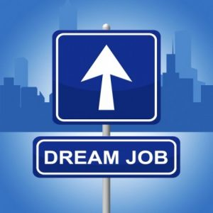 dream-job-means-signboard-daydreamer-and-plan