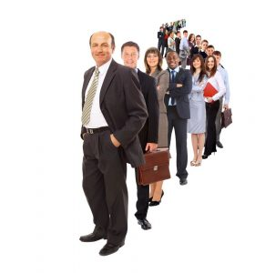 Soft Skills in Business - Business Leader_Employees in line formation