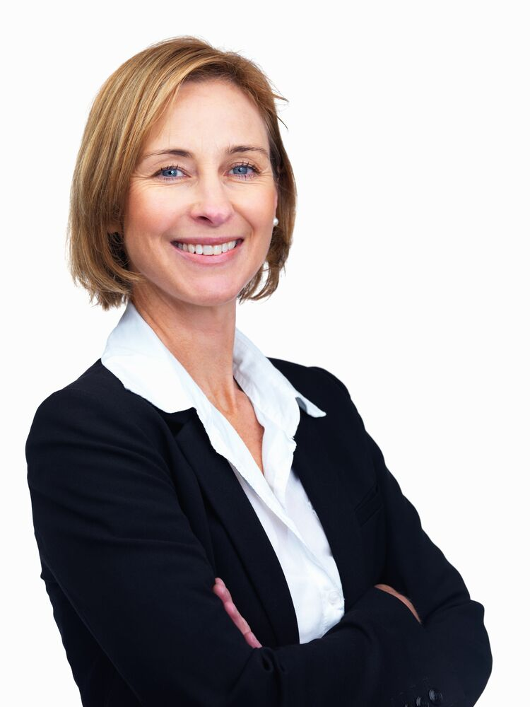 Corporate VP - business woman smiling