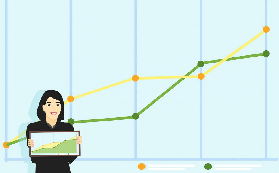 Getting Superiors to Approve Your Ideas - woman presenting graph