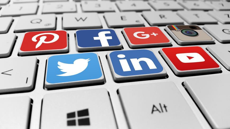 Social Media - Keyboard Icons