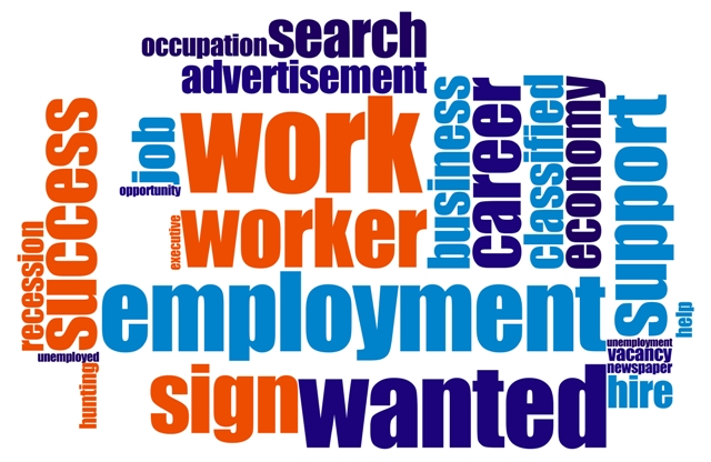 New to the Job Market - Employment Word Collage