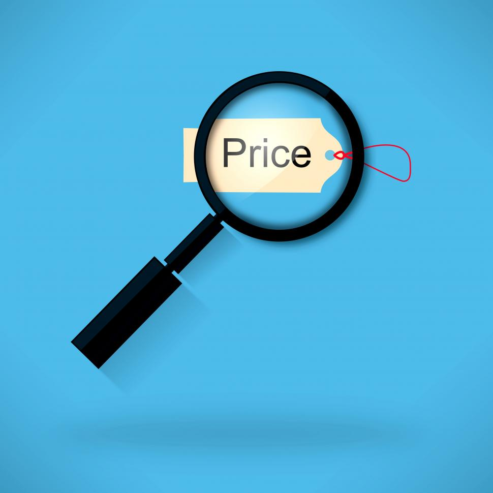 Procurement - Price Tag - Magnifying Glass