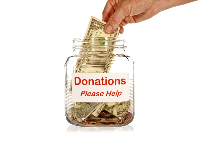 Social Responsibility - donation jar