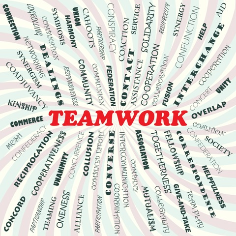 Teamwork Restructure - Teamwork word collage