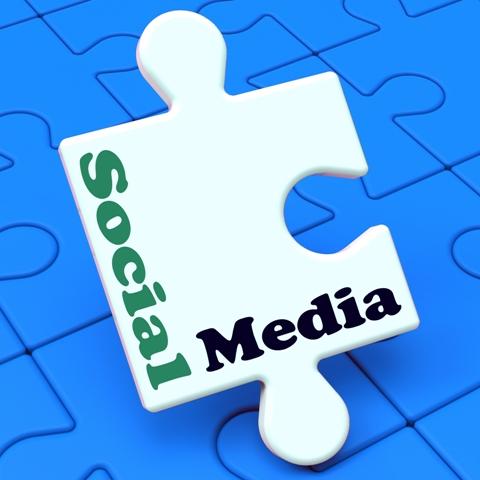 Social Media Showing Online Networking Community Facebook Twitter Tweet