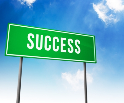Success on Road Sign