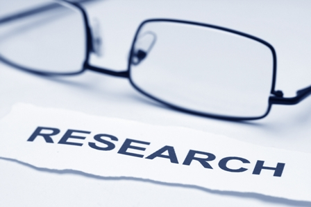 Close up of glasses on research concept