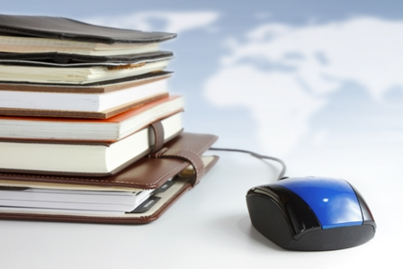 Accelerated-Learning-Stack-of-Books-with-Computer-Mouse.