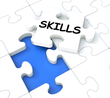 Skills Puzzle Shows Aptitudes, Talents And Abilities
