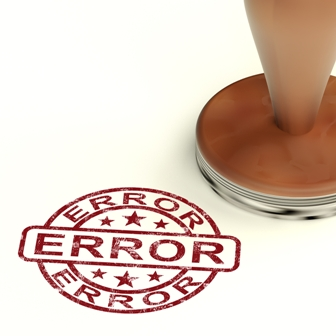 Error Stamp Shows Mistake Fault Or Defect