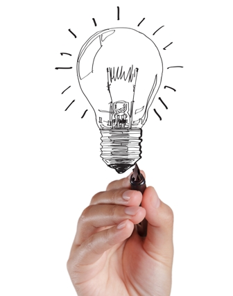 Brainstorming-Career-Choices-Hand-drawn-lightbulb