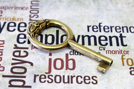 Laid-off-Business-Leaders-Gold-Key-atop-word-collage_employment