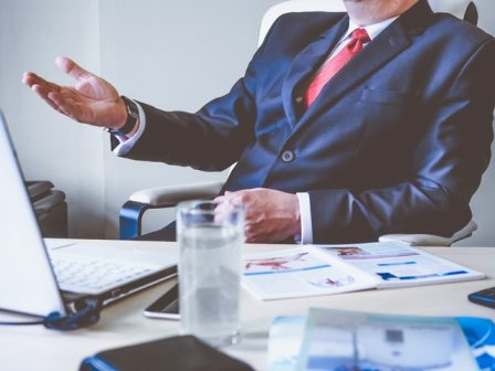 Recruiting actions to avoid - businessman at desk