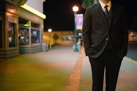 Jeff Bezos - Businessman standing on street corner