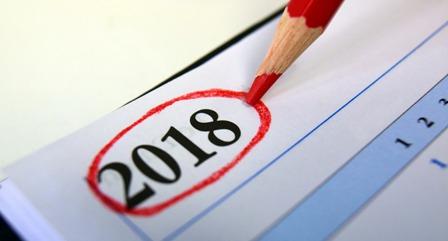 Resolutions 2018 calendar
