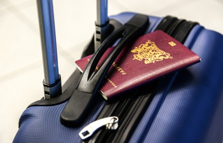 Accepting Job Abroad - Luggage and passport