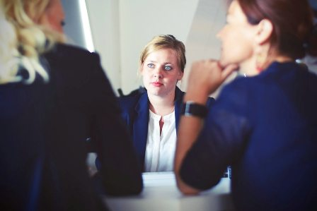 Acing Behavioral Interviews - three women at interview