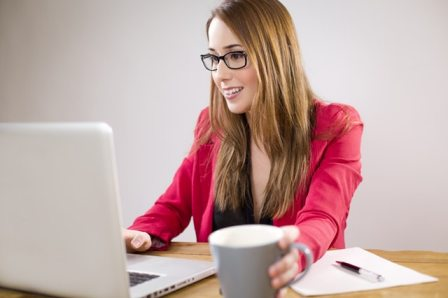 Female Entrepreneurs - Businesswoman on laptop computer