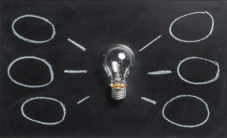 Mindful Career Strategies - Lightbulb on Chalkboard