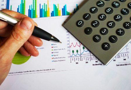 Financial Literacy - Calculator, Chart, Pen