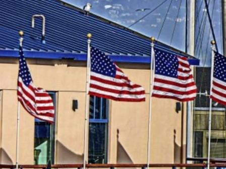 Hiring Vets - American Flags