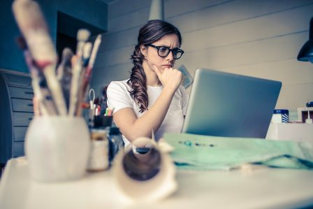 Professional Women Achieving Work-Life Balance - Busy woman at desk