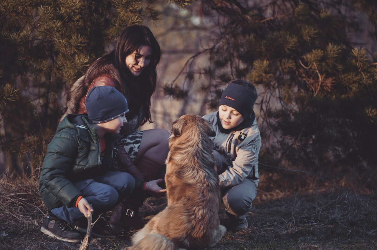 Professional Women Achieving Work-Life Balance - Mom with kids and dog