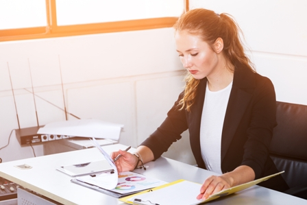 Women in the Workplace - Professional Woman at desk