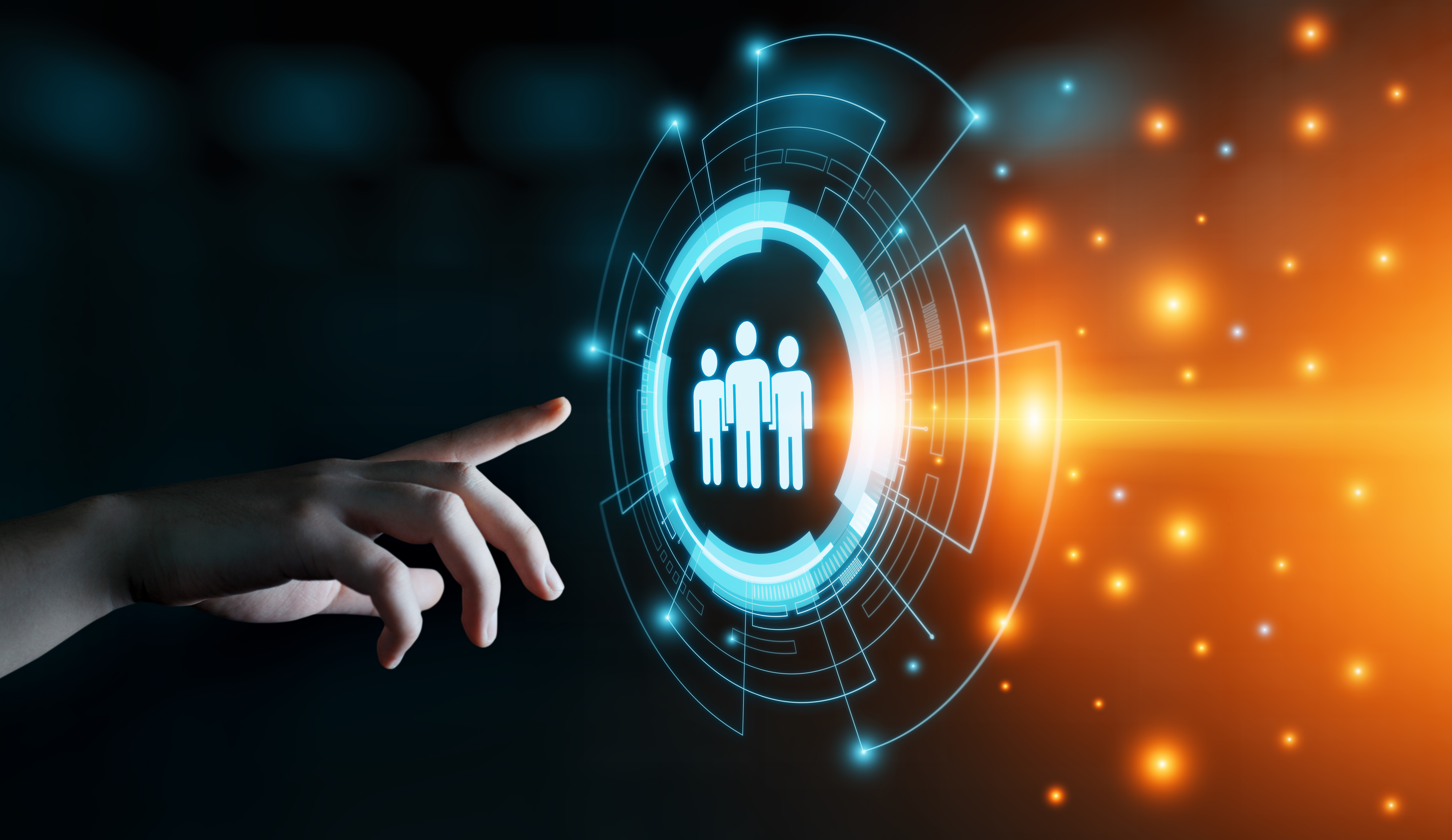 Employment Concept - digital graphic virtual screen