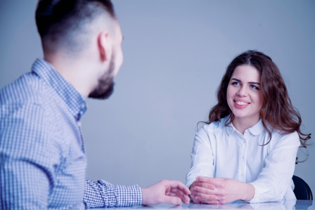 Job Interview Tips1 - young woman at interview