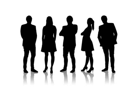 Young Professionals - silhouettes