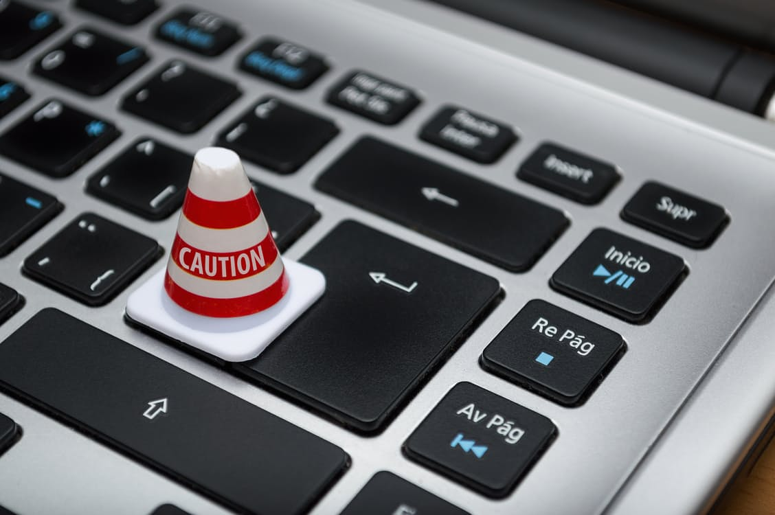 What Not To Include On Your LI Page - Keyboard_Caution-Cone