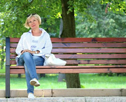 Jobs for Seniors - Woman on bench